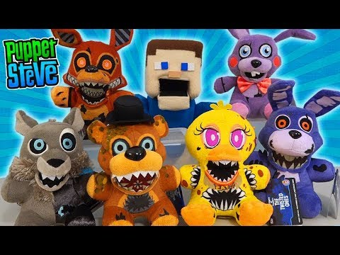 FNAF Twisted Ones Plush Five Nights At Freddy's Funko Case Unboxing! Pop Exclusive Set