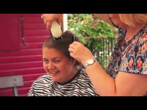 Georgina Kibble - Shaving Hair for Cancer Charity