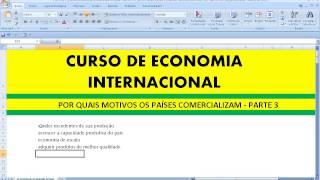 Economia Internacional Por que razões nações transacionam comercial e internacionalmente Aula Curso