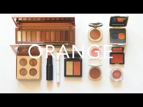 Orange Eyeshadow   Halloween Inspired Shades and Swatches