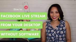 Facebook LIVE Streaming Tutorial | How to live stream on Facebook from desktop