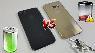 ¿Qué batería dura más? iPhone 7 vs Galaxy S7