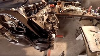 2004 Honda Civic D17 Engine Rebuild time lapse DIY