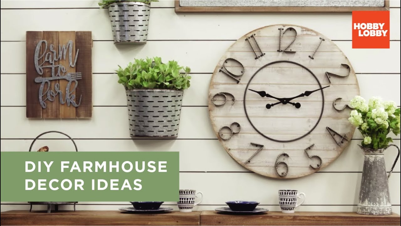 Diy Farmhouse Decor Ideas Hobby Lobby Youtube