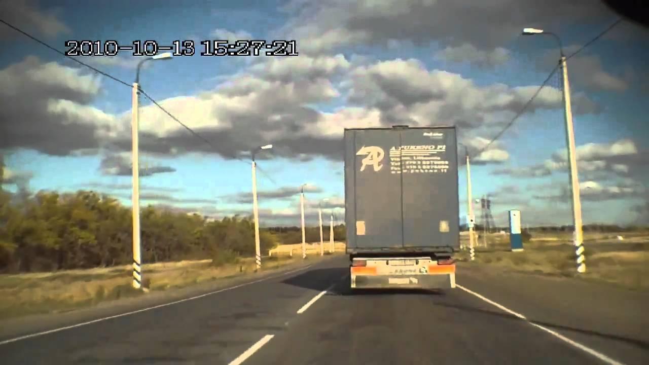 Авария под Камышином на видеорегистратор