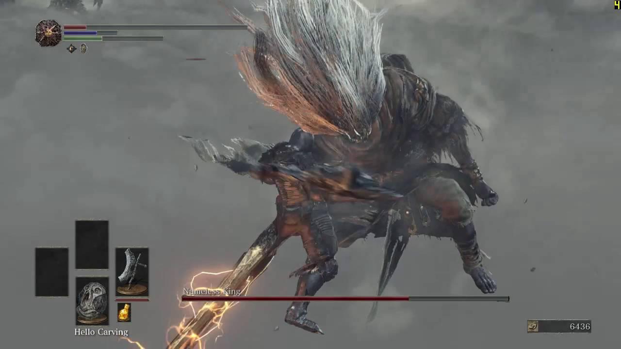 Dark Souls 3 Dragonslayer Great Axe Vs Nameless King