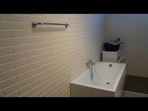 Декоративная плитка в ванной! Декоративный кирпич. Как выбрать. Укладка плитки. Видео №1