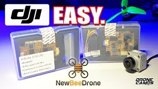 DJI Digital Fpv EASIEST Build - New Bee Drone Infinity FC30 Review