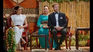 Duke and Duchess of Sussex - Welcome to the Kingdom of Tonga - Traditional Tongan Entertainment