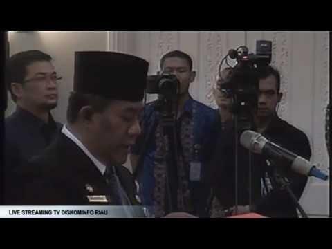 Pengambilan Sumpah Jabatan Dan Pelantikan Pejabat Tinggi Pratama Sekretaris DPRD Provinsi Riau