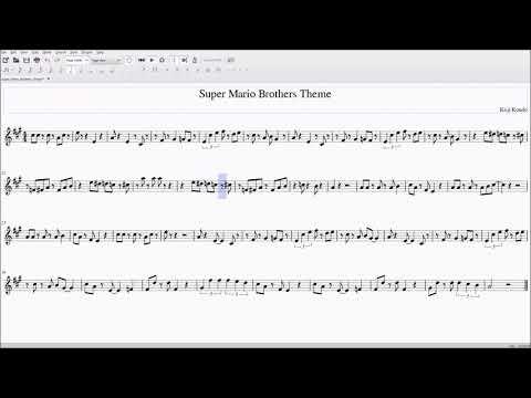 Super Mario Bros Theme for Alto/Bari Sax