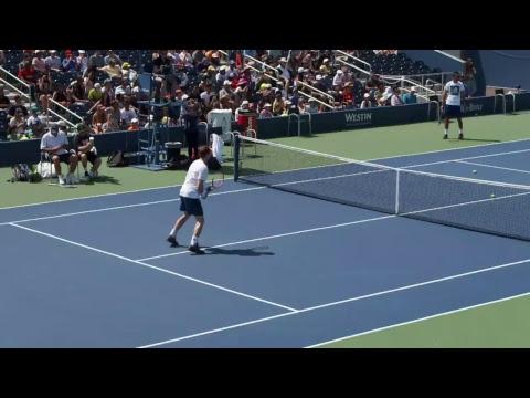 LIVE US Open Tennis 2017: Andy Murray and Thai-Son Kwiatkowski Practice