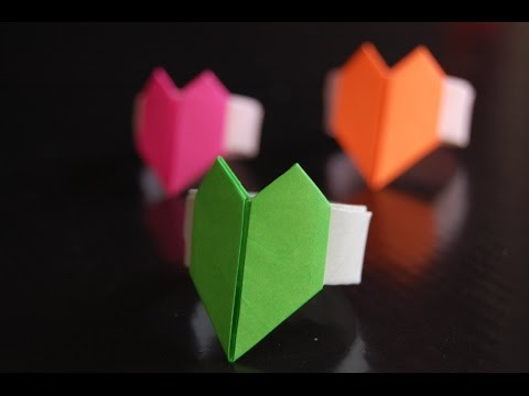 Paper Heart Ring Origami (Hiroshi Kumasaka)