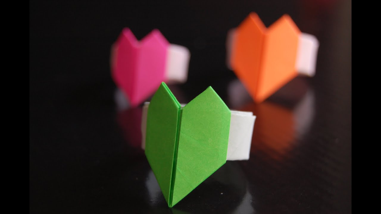 Paper Heart Ring Origami (Hiroshi Kumasaka) - YouTube - photo#27