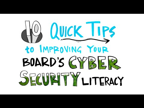 10 Quick Tips to Improving Your Board's Cyber Security Literacy