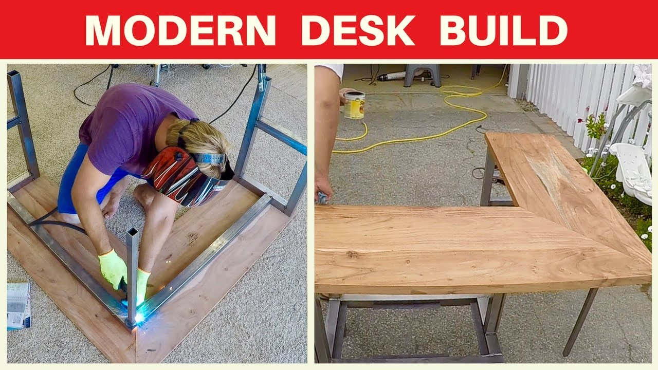 Modern Corner Desk Build Mahogany Metalworking And Woodworking Modern Furniture Diy