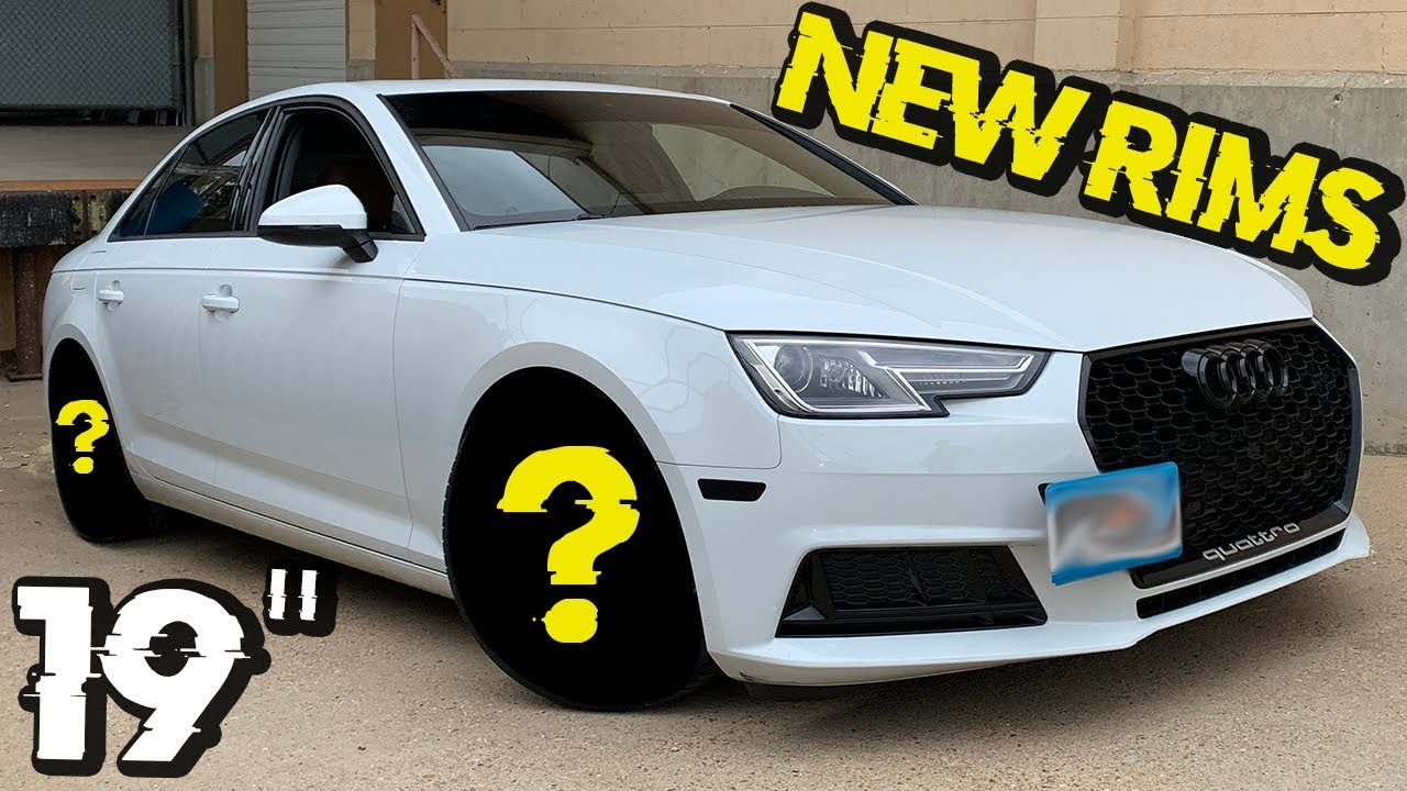 Turning a 2017 Audi A4 B9 into an RS4 Look - New Wheels // Simple Mods on a  Car Part 3 - YouTube | Audi A4 White Black Rims |  | YouTube