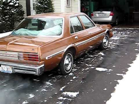 78 dodge aspen cold start pt.2 - YouTube