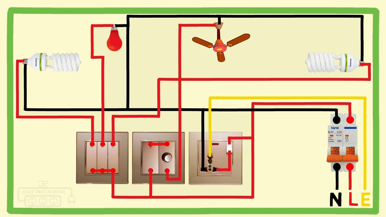 full house wiring diagram gang switch
