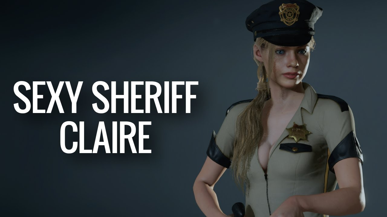 Sexy Sheriff Outfit for Claire - Resident Evil 2 (mod)