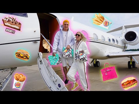 Private Jet Burger King Mukbang 🍔 Trying The Impossible Whopper