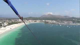 Alcudia beach parasailing video
