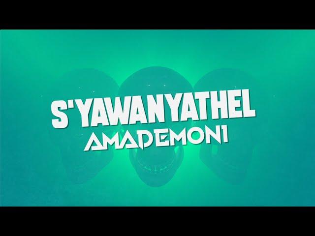 Cassper Nyovest feat Tweezy - Amademoni (Lyric Video)