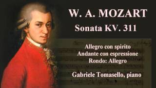 W. A. Mozart Sonata in D major KV. 311 Gabriele Tomasello, piano. d...