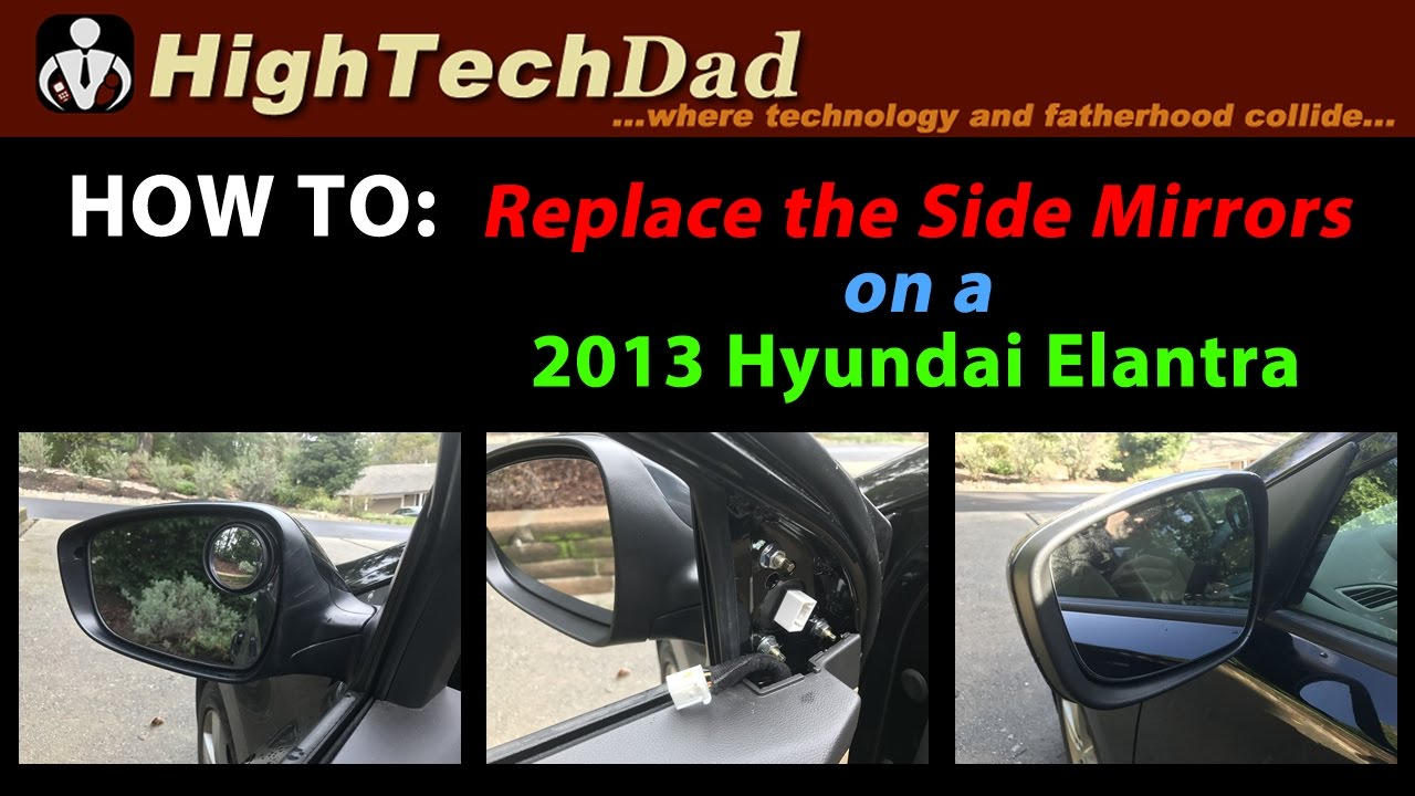 how to replace 2013 hyundai elantra s side mirror diy howto [ 1280 x 720 Pixel ]