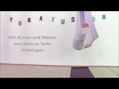 anleitung aerial yoga savasana im tuch  youtube