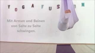 Anleitung Aerial Yoga: Savasana im Tuch