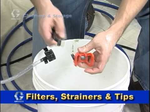 Clean Up and Storage for Your Paint Sprayer