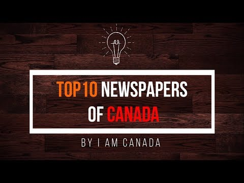 List of newspapers printed and distributed in Canada