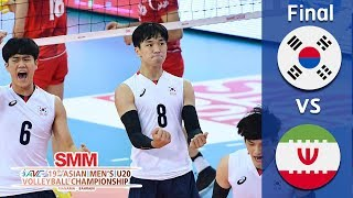 Korea vs Iran - Final  Asian Mens  U20 Volleyball Championship 2018