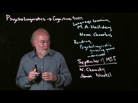 Rob Tierney Lecture 1.2: Psycholinguistics