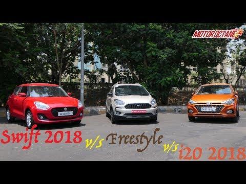 Ford Freestyle vs Maruti Swift 2018 vs Hyundai i20 2018 Comparison | MotorOctane