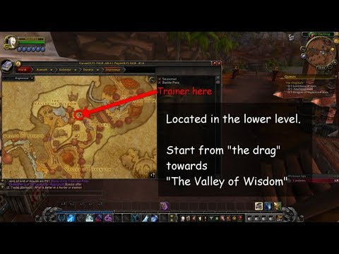 How To Find Herbalism Trainer In Orgrimmar