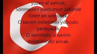 istiklal marşı sozleri/turkish anthem lyrics HD