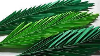 DIY PALM LEAVES PAPER CRAFTS TUTORIAL