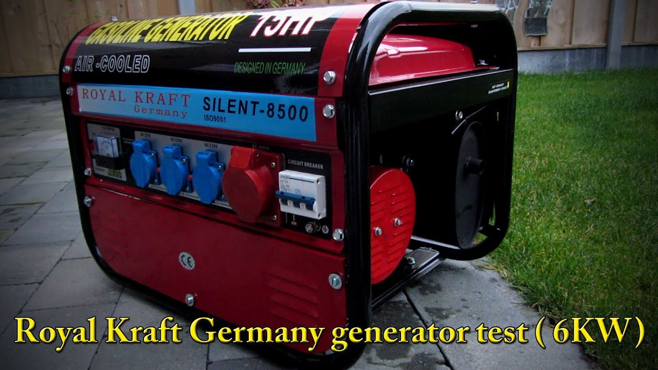 Royal Kraft Germany Generator test YouTube