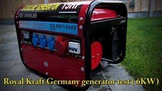Royal Kraft Germany Generator test