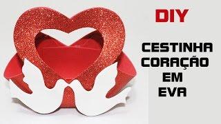 DIY lembrancinha encontro de casais (cestinha de coração)