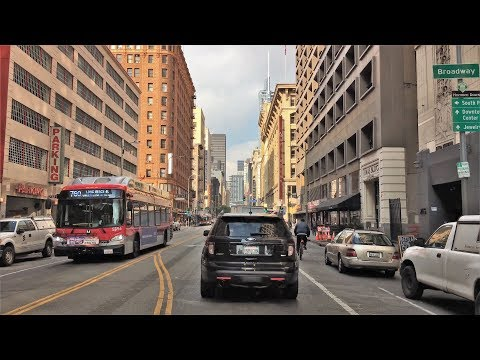 Driving Downtown 4K - LA's Architecture - Los Angeles USA