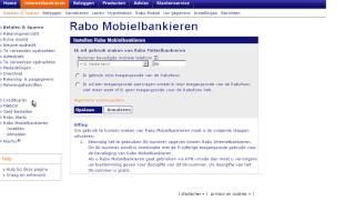 Rabo Internetbankieren – instellen Rabo Mobielbankieren
