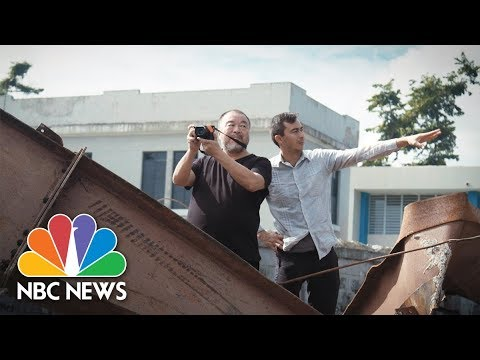 Artist Ai Weiwei's Journey Following Refugees Takes Him To Puerto Rico | NBC News