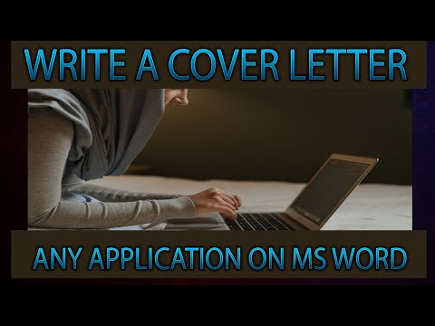 how-to-write-a-cover-letter-any-application-on-ms-word||ms-word-tutorial