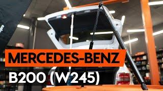 Kuinka vaihtaa takaluukun kaasujousi MERCEDES-BENZ B200 (W245) -merkkiseen autoon [AUTODOC]
