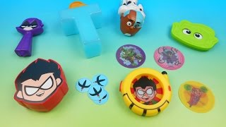 2015 TEEN TITANS GO! SET OF 6 BURGER KING KIDS MEAL TOYS VIDEO REVIEW
