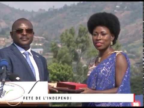 Natacha reçoit un Certificat par S.E. le Président du Burundi Pierre Nkurunziza