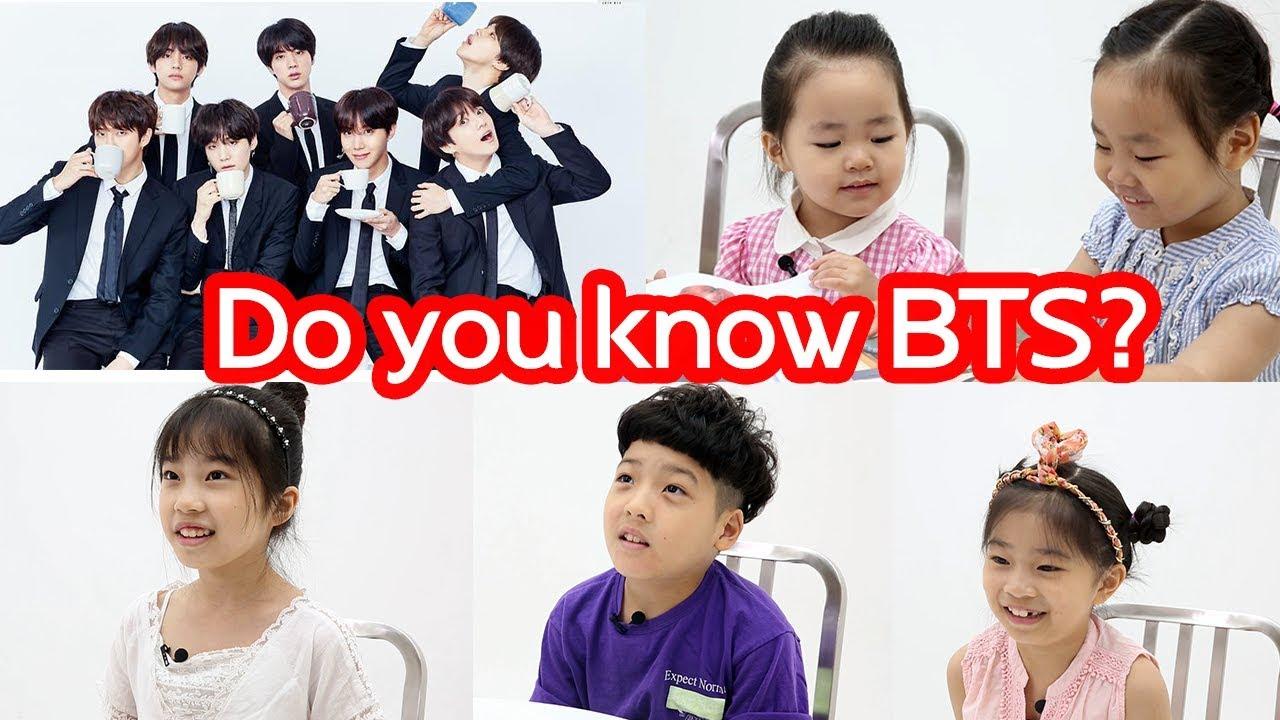 Korean Children Talk about BTS - YouTubeKorean Toddler Youtube